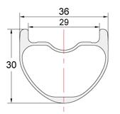 Perfil llantas de carbono PREMIUM-36