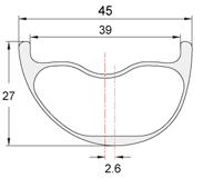 Perfil llantas de carbono PREMIUM-45