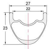 Perfil llantas de carbono XC-27