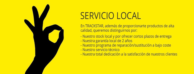 TrackStar servicio local, stock local, servicio tecnico, garantia
