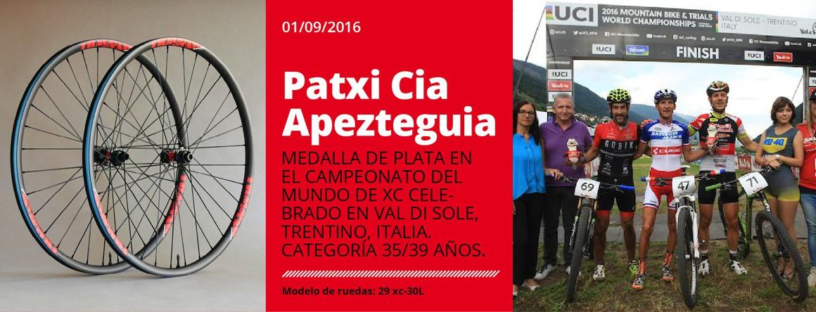 Patxi Cia, subcampeón del mundo 2016