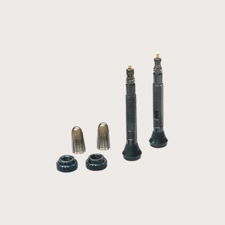 Juego 2 válvulas tubeless 40mm negras