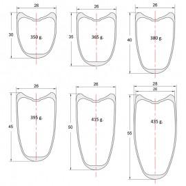 Para tubulares, Carbono PREMIUM perfil 30 a 55mm, DT240s, CX-Ray - xxxxg. Ruedas de carretera para frenos de disco