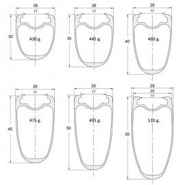 Para cubiertas, Carbono PREMIUM perfil 30 a 55mm, DT Swiss, CX-Ray - 1.490g. Ruedas de ciclocross para frenos de disco
