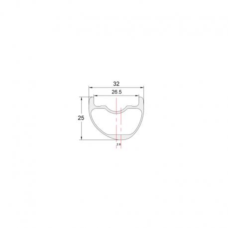 """29"""" PREMIUM - 32 mm ancho, 28 y 32 agujeros - Llanta de carbono NEXTIE"""