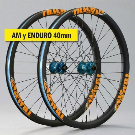 """29"""" Carbono PREMIUM 40mm, bujes HOPE Pro 4. Ruedas ligeras"""