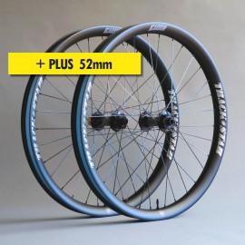 """29""""+ Carbono PRO 52mm, bujes HOPE, juego de ruedas ligeras"""