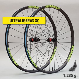 "29"" Carbono PREMIUM UL 30mm, DT Swiss y CX-Ray. Ruedas XC ultraligeras"