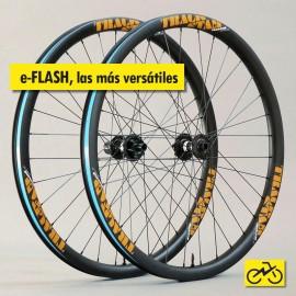 e-FLASH: Juego de ruedas de carbono para eBike MTB. Rígidas y ligeras.