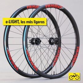 e-LIGHT: Juego de ruedas de carbono para eBike MTB. Muy ligeras y fiables.